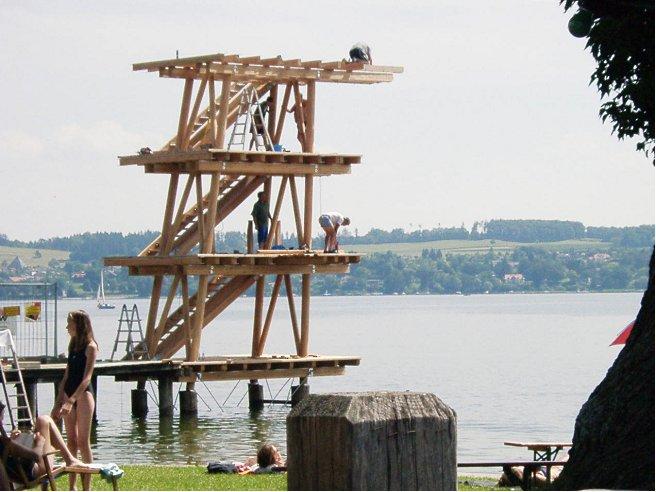 Neubau Sprungturm 2001 - 02