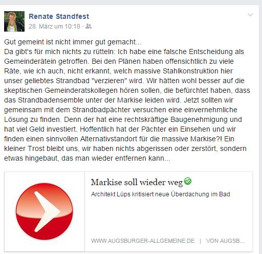 20150328 Standfest auf Facebook